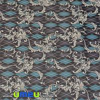 Упаковочная бумага Узоры, Черная, 68х100 см, 1 лист (UPK-019252)