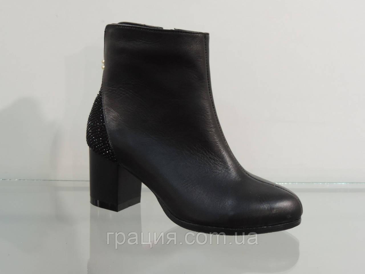 Модные ботиночки на не большем каблуке кожаные