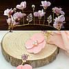 Тіара діадема і сережки набір Лаура корона для волосся Тіара Вікторія весільна прикраси тіари, фото 2