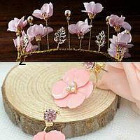 Тиара диадема и серьги набор Лаура  корона для волос Тиара Виктория