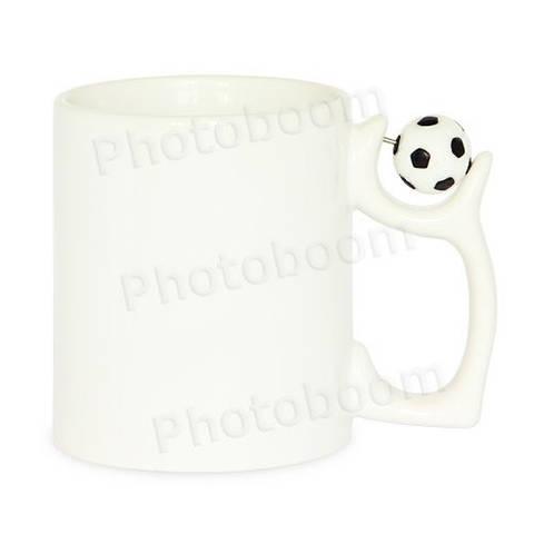 Кружка керамическая с футбольным мячом