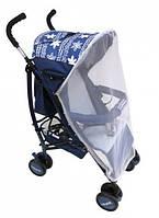 """Детская Прогулочная коляска-трость Babyhit """"Радость"""" Синяя с амортизацией, регулировкой, ремнями"""