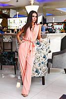 Красивый персиковый  женский комбинезон. Арт-2068/22