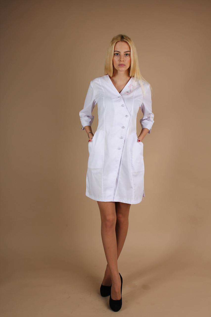 b5788ab3e2e7f Красивый медицинский халат с вышивкой - Интернет магазин одежды Жасмин. в  Хмельницком