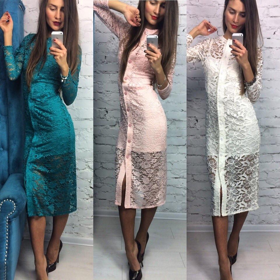 Стильное красивое кружевное платье двойка  - Solodkova в Харькове