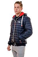 Мужская стёганая куртка под резинку с капюшоном р44-54, фото 1