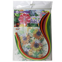 Набор для творчества, полоски для квиллинга НК-6, 6 цветов
