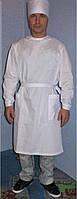 Халат хирургический бязь белая