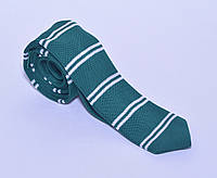 Зелёный трикотажный галстук