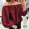 Пышная блуза хлопковая(разные цвета), фото 6
