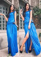 Платье женское, голубое, весна-лето P-CRIS 5-12