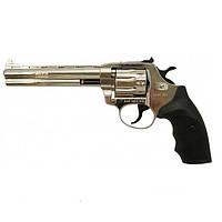 """Револьвер флобера Alfa мод 461 6"""" никель пластик"""