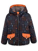 Куртка весенняя оранж, флис, р.98-116
