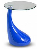 Стол журнальный Перла, синий, Современный стол Перла, k00706blu