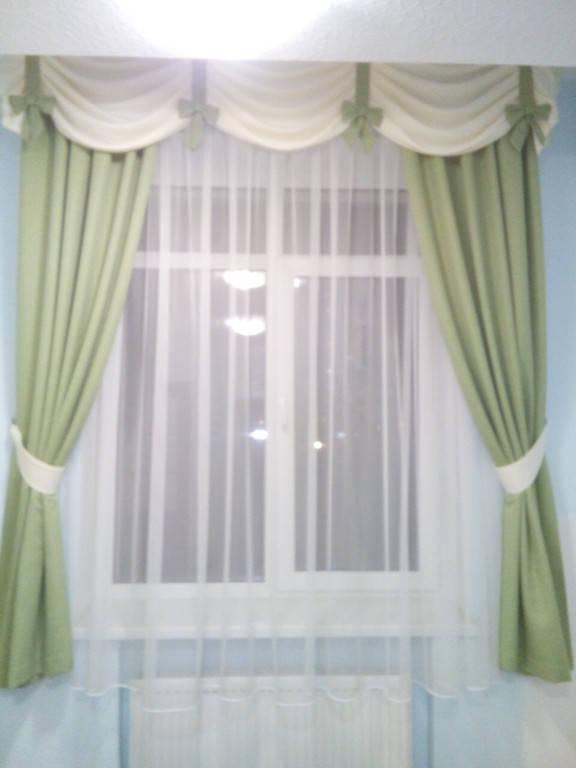 Плотные шторы с воздушным тюлем