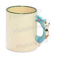 Кружка детская с фигурной ручкой Кролик