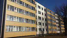 Встановлення вентильованого фасаду та балконних рам.