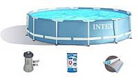 Бассейн каркасный Intex 28712 (28212), 366*76 см + насос-фильтр