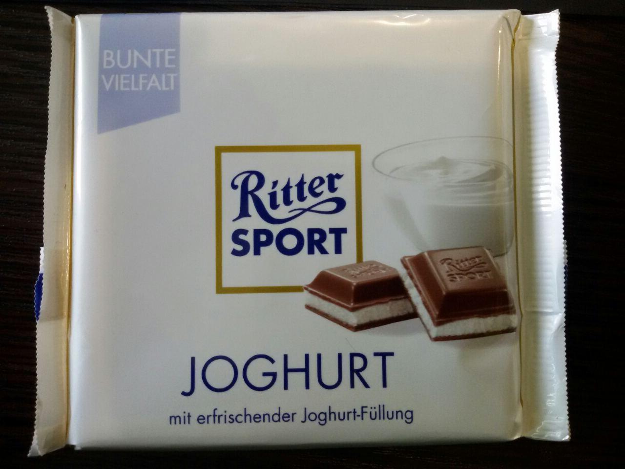 Шоколад Ritter sport йогурт (Ритер спорт) 100г. Германия