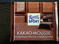 Шоколад Ritter sport какао мусс (Ритер спорт) 100г. Германия