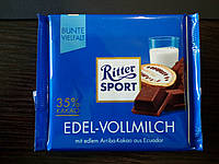 Шоколад Ritter sport молочный (Ритер спорт) 100г. Германия