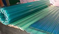 Волнопласт (шифер ПВХ) 2 *10 м. голубой волновой