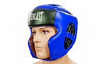 Шлем боксерский в мексиканском стиле винил EVERLAST  (синий, р-р M-XL)