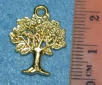 Подвеска стальная 1033 Дерево золото