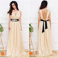 Шёлковое платье с поясом