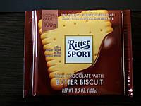 Шоколад Ritter sport с печеньем (Ритер спорт) 100г. Германия
