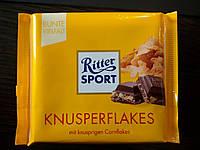 Шоколад Ritter sport с хлопьями (Ритер спорт) 100г. Германия