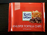 Шоколад Ritter sport с чипсами (Ритер спорт) 100г. Германия