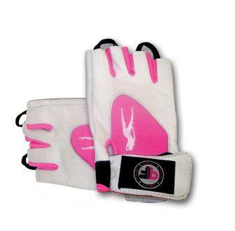 Перчатки спортивные, женские Biotech Pink fit gloves (white-pink)