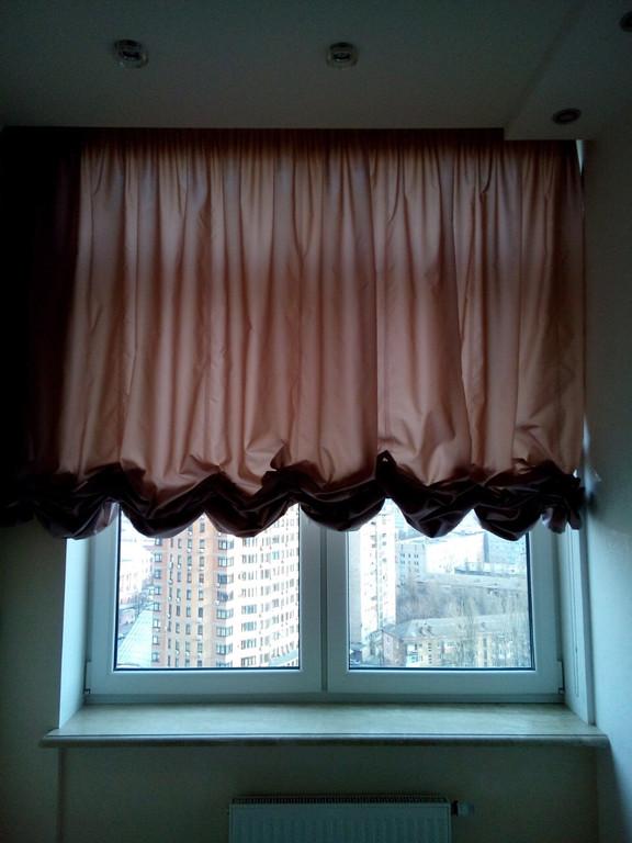 Лондонские шторы в киевскую квартиру по ул.Пушкинской