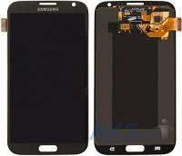 Дисплей (экран) для телефона Samsung Galaxy Note 2 N7100, Galaxy Note 2 N7105 + Touchscreen Original Grey