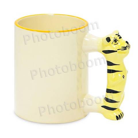 Кружка детская с фигурной ручкой Тигр