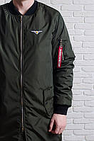 Куртка, ветровка, бомбер, демисезонная, мужская, весенняя, осенняя, хаки, фото 1
