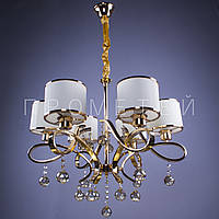 Люстра классическая на 6 лампочек  FG (золото) P13-RM9038/6/FGD