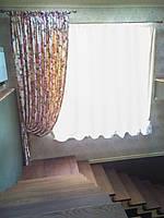 Цветочные шторы с подвесками