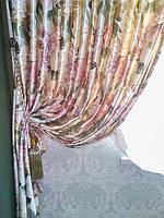 Прямые шторы с подвесками