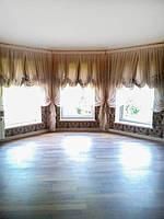 Лондонские шторы с микро вуалью