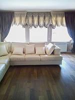 Лондонские и прямые шторы в гостиную