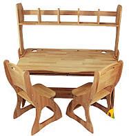 Комплект парта растишка +2 стульчика + надстройка р112-1 + С300 + h112