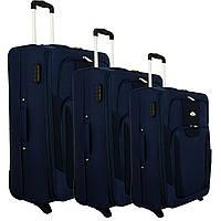 Чемодан сумка RGL 1003 набор 3 штуки синий