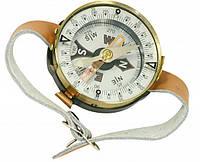 Наручный компас TSC-3: градуировка шкалы 3°, ремешок экокожа, зажим-арретир, 15х50 мм