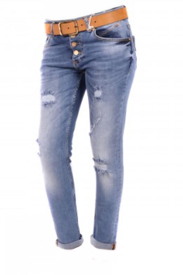 Бойфренд- женские джинсы jass jeans 266 голубые