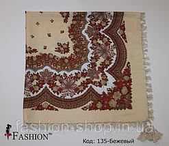 Платок в  русском стиле с кистями, фото 2