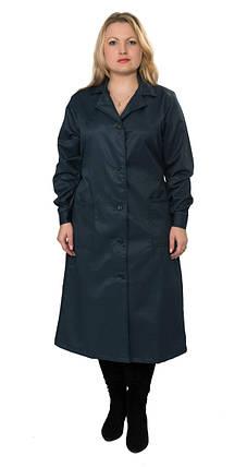 Халат рабочий ОТ женский ECONOM темно-синий, фото 2