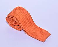 Оранжевый вязанный галстук