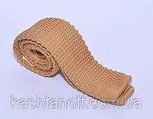 Бежевый вязанный галстук